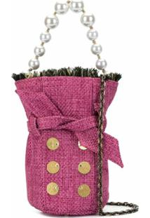 Kooreloo Bolsa Bucket Mini De Tweed - Rosa