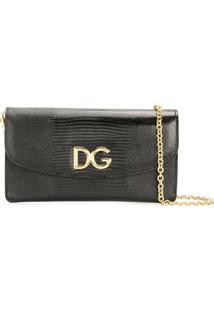 Dolce & Gabbana Clutch Dg Com Logo - Preto