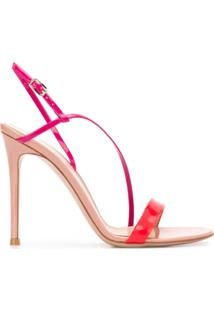 Gianvito Rossi Sandália Manhattan Color Block Com Salto 105Mm - Rosa