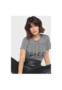 Camiseta Colcci Logo Cinza