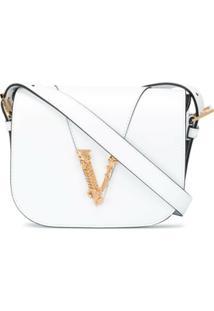 Versace Bolsa Transversal Virtus Grande - Branco