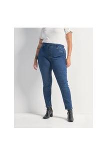 Calça Jeans Jegging Curve & Plus Size Azul