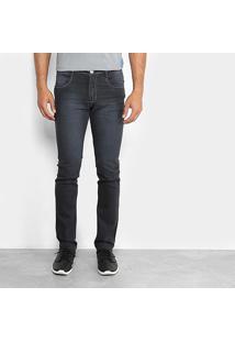 Calça Jeans Slim Preston Estonada Masculina - Masculino