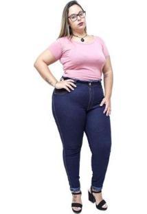 Calça Jeans Latitude Plus Size Skinny Valdeide Latitude Jeans Feminina - Feminino
