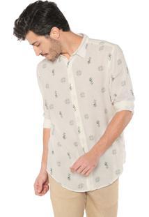 Camisa Osklen Reta Floral Off-White