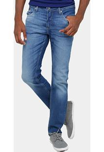 Calça Jeans Slim Calvin Klein Estonada Elastano Masculina - Masculino