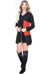 Cardigan Tricot 3 Cores Feminina - Feminino