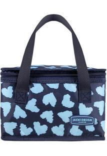 Bolsa Térmica Retangular & Estampa Corações- Azul Marinhjacki Design