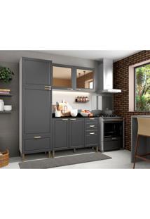 Cozinha Compacta Nevada Ix 6 Pt 4 Gv Grafite E Branca