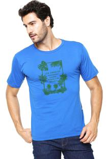 Camiseta Rgx La Capri Med Br Azul Bic