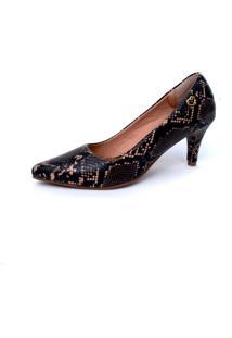 Scarpin Amo Calçados Preto
