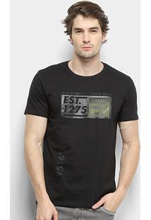 Camiseta All Free Urban District Masculina - Masculino-Preto