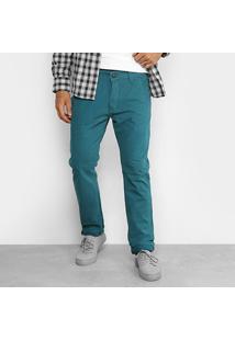 Calça Sarja Hd Color Slim Fit Masculina - Masculino
