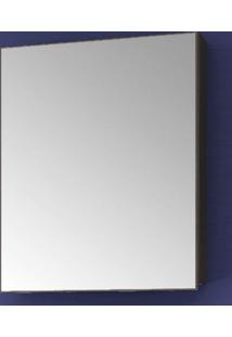 Espelheira Para Banheiro 1 Porta 1 Prateleira 60Cmx50Cm Vegas Móveis Bosi Nogal Malaga/Carvalho Batur