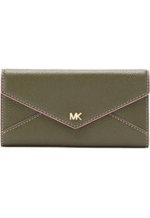 Michael Michael Kors Carteira Money Pieces De Couro - Verde