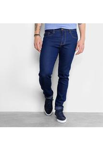Calça Jeans Slim Triton Tradicional Masculina - Masculino-Azul