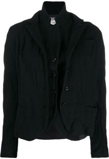 Kristensen Du Nord Layered Button Jacket - Preto