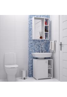 Armário De Banheiro 1 Porta Bkb01 Branco - Brv Móveis