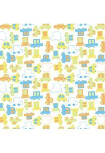 Papel De Parede Quartinhos Adesivo Infantil Carrinhos 2,70X0,57M
