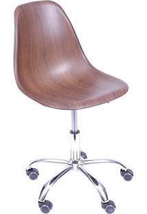 Cadeira Eames Dkr- Madeira Escura & Prateada- 93X47Xor Design