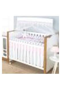 Enxoval Bebê Rolinho 10 Peças Menina Rosa 100% Algodão Padrão Americano