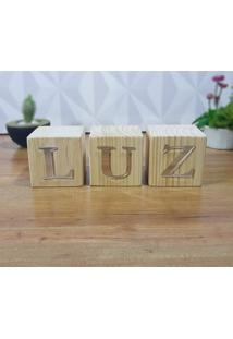 Cubo Decorativo Com Letras Em Acrílico Luz