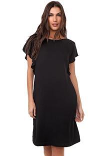 Vestido Mercatto Curto Liso Preto