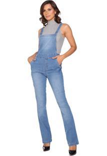Macacão Jeans Lúcia Figueredo Bootcut Azul - Kanui