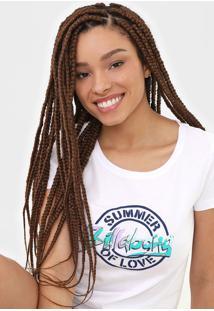 Camiseta Billabong Love Palms Branca - Kanui