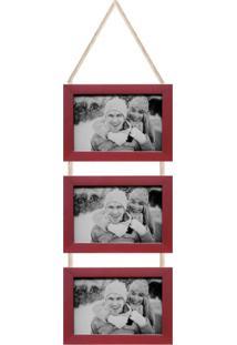 Porta-Retrato 10X15 Simple Vermelho