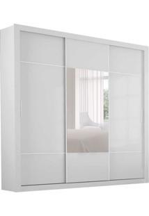Guarda-Roupa Casal Com Espelho Bipartido Trento 3Pt 4Gv Branco
