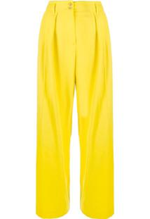 Paul Smith Calça Pantalona - Amarelo