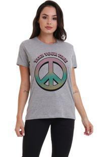 Camiseta Jay Jay Básica Take Your Time Cinza Mescla Dtg