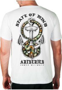 Camiseta State Of Mind Cobra & Âncora Artseries Masculina - Masculino-Branco