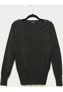 Suéter Tricot Miose Botões Feminino - Feminino
