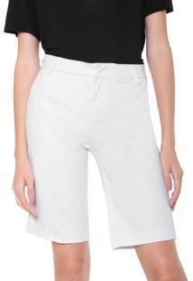 Bermuda Sarja Calvin Klein Jeans Chino Alfaiataria Branca