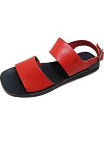 Sandália Zimbauê Rasteira Vermelha