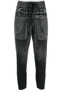 Thom Krom Calça Cropped Com Amarração - Preto