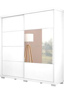 Guarda-Roupa Las Vegas Robel Branco Madeirado 2 Portas De Correr Com Espelhos