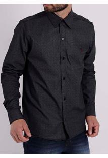 Camisa Manga Longa Masculina Preto
