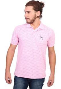 Camisa Polo England Polo Club Full Print - Masculino-Rosa