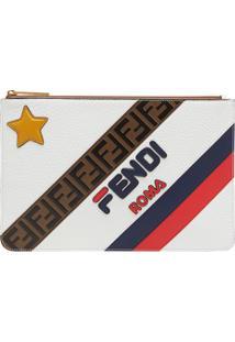 Fendi Fendimania Mixed Logo Pouch - Branco