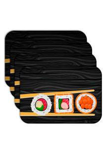 Jogo Americano Love Decor Sushi Kit Com 4 Peças