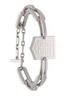 Givenchy Engraved Chain Bracelet - Prateado