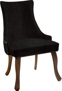 Cadeira Luis Xvi T1015 Vel Chum C/ Tachas Daf Preto