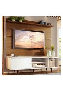 Rack Madesa Dubai E Painel Para Tv Até 65 Polegadas Com Pés - Branco/Rustic 095Z Branco