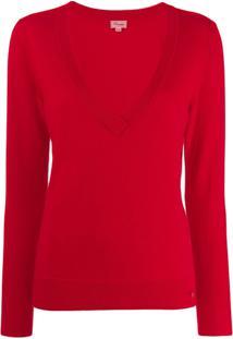 Temperley London Blusa Canelada - Vermelho
