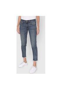 Calça Cropped Jeans Polo Ralph Lauren Skinny Dirty Azul