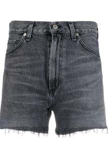 Citizens Of Humanity Kristen Organic Cotton Denim Shorts - Cinza