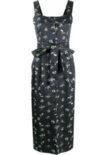 12 Storeez Vestido Com Laço Na Cintura - Preto